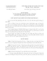 Quyết định Về việc thành lập Trung tâm Tin học - Công báo trực thuộc văn phòng UBND tỉnh