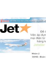 Áp dụng thương mại điện tử của hãng hàng không Jestar Pacific