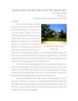 Du lịch với sự đa dạng văn hóa Việt Nam