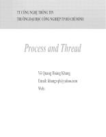 Bài giảng tiến trình và tiểu trình
