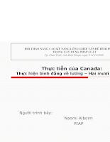 Thực tiễn của Canada thực hiện bình đẳng về lương- Hai mươi năm sau