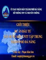 Giới thiệu dự án đầu tư xây dựng khu CNTT tập trung thành phố đà nẵng