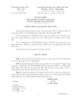 Quyết định Ban hành Quy chế tổ chức và hoạt động