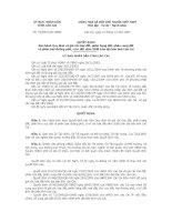 Quyết định Ban hành Quy định về giá các loại đất, phân hạng đất, phân vùng đất và phân loại đường phố, vị trí đất năm 2008 trên địa bàn tỉnh Lào Cai