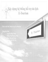 Xây dựng hệ thống hỗ trợ du lịch E- tourrism