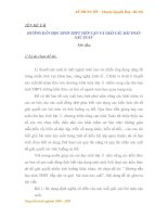 HƯỚNG DẪN HỌC SINH THPT TIẾP CẬN VÀ GIẢI CÁC BÀI TOÁN XÁC SUẤT