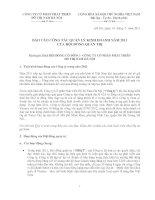 Báo cáo công tác quản lý kinh doanh năm 2011 của hội đồng quản trị