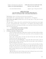 Biên bản họp hội đồng cổ đông thường niên năm 2012