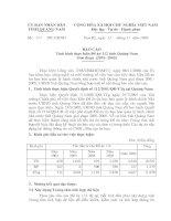 Báo cáo Tình hình thực hiện Đề án 112 tỉnh Quảng Nam giai đoạn 2001-2005