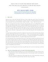 Bản tham chiếu Chuyên gia phát triển hướng dẫn tham vấn cộng đồng về tính hợp pháp của gỗ và sản phẩm gỗ của Việt nam
