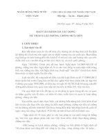 Báo cáo đánh giá tác động dự thảo luật phòng, chống rửa tiền