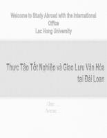 Thực tập tốt nghiệp và giao lưu văn hóa tại đài loan