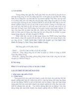 TÌNH HÌNH KẾ TOÁN VÀ QUẢN LÝ TÀI SẢN CỐ ĐỊNH Ở Công ty XNK THUỶ SẢN MIỀN TRUNG