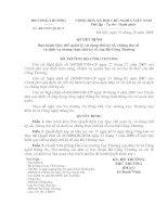 Quyết định Ban hành Quy chế quản lý, sử dụng chữ ký số, chứng thư số  và dịch vụ chứng thực chữ kí số của Bộ công thương
