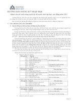 Hướng dẫn đăng kí nhập học