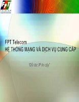FPT Telecom Hệ thống mạng và dịch vụ cung cấp