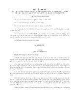 Quyết định về việc sắp xếp lại, xử lí nhà, đất thuộc sở hữu nhà nước