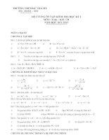 Đề cương ôn tập toán 10