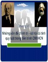 Những vấn đè chính trị- xã hội có tính quy luật trong tiến trình CMXHCN