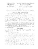 Quyết định Phê duyệt Kế hoạch hoạt động năm 2012 - Dự án VLAP tỉnh Hưng Yên