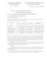 Báo cáo tài chính 6 tháng đầu năm 2012 công ty cổ phần Supe phốt phátx