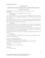 TÀI LIỆU HỌC VIÊN TẬP HUẤN VỀ ĐỔI MỚI PPDH và KIỂM TRA ĐÁNH GIÁ KQHT MÔN NGỮ VĂN (Tháng 07 năm 2008)