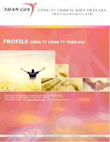 Profile công ty TNHH sự kiện Trần Gia