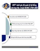 An toàn thông tin dưới góc đọ quản lý hệ thống phù hợp tiêu chuẩn ISO/IEC 27001:2005