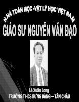 Nhà toán học Vật lý Giáo sư Nguyễn Văn Đạo