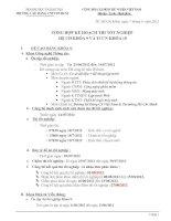 Tổng hợp kế hoạch thi tốt nghiệp hệ cao đẳng khóa 9 và trung cấp chuyên nghiệp khóa 10