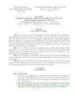 """QUY CHẾ Thực hiện chương trình """" Vinh danh trí tuệ Bàn tay vàng Việt Nam"""" ngành mỹ nghệ kim hoàn đá quý Việt Nam"""