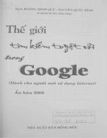 Thế giới tìm kiếm tuyền vời trong Google
