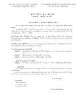 Lịch công tác từ ngày 27/8 đến 7/9/2012