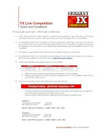 FX live competition terms and conditions
