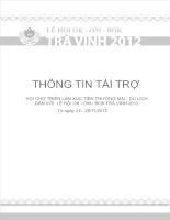 Hồ sơ tài trợ hội chợ triển lãm xúc tiến thương mại du lịch gắn với lễ hội Ok-om-bok trà vinh 2012
