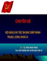 Hội nghị lần thứ 3 ban chấp hành trung ương khóa XI