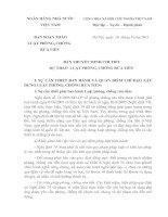 Bản thuyết minh chi tiết dự thảo luật phòng chống rửa tiền
