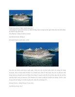 """7 siêu tàu du lịch """"đỉnh"""" nhất năm 2011"""