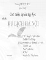 Giới thiệu dự án dạy học Du lịch Hà Nội