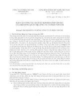 Báo cáo công tác quản lý kinh doanh năm 2011 của hội đồng quản trị công ty cổ phần vincom