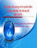 Dự thảo chương trình phát triển công nghiệp nội dung số đến 2010