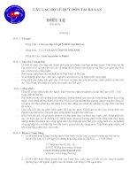 Dự thảo điều lệ câu lạc bộ Lê quý đôn tại ba lan