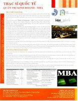 Quản trị kinh doanh MBA