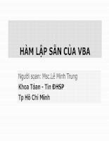 Hàm lập sẵn của VBA