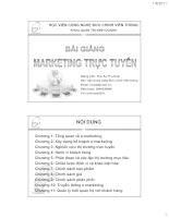 Bài giảng Marketing trực tuyến