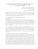 GIỚI THIỆU CHƯƠNG TRÌNH HỌC LIỆU MỞ VIỆT NAM (VOCW).   CÁC ỨNG DỤNG CỦA VOCW CÓ THỂ KHAI THÁC    QUA MẠNG VINAREN