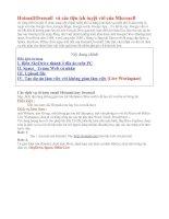 Hot mail/livemail và các tiện ích tuyệt vời của Microsoft