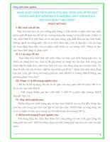 """KHAI THÁC TÍNH NĂNG ĐỘNG CỦA HỌC SINH, GÂY HỨNG THÚ TRONG GIỜ HỌC MÔN GDCD Ở TRƯỜNG THCS THÔNG QUA PHƯƠNG PHÁP """"TRÒ CHƠI"""""""