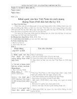 Giáo án Ngữ văn 12 (Chương trình chuẩn)