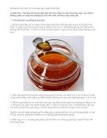 Những lợi ích tuyệt vời của mật ong ít người biết đến.doc